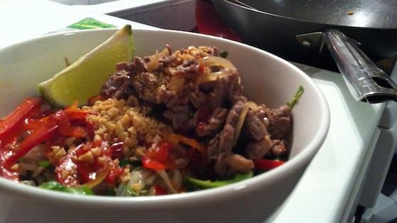 Bun Bo Xao – Vietnamese Beef & Lemongrass Rice Noodles